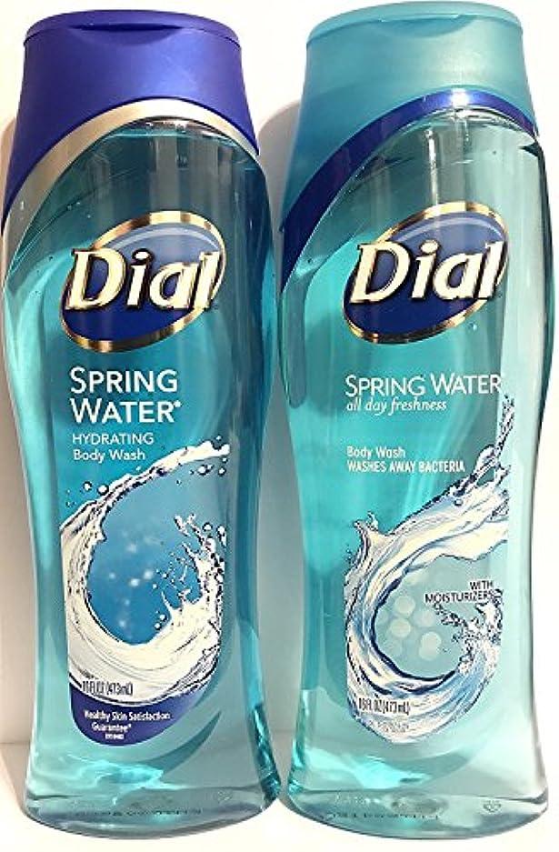 欠陥かろうじてファイバDial Body Wash, Spring Water, 16 Fl. Oz - 2 pk by Dial [並行輸入品]