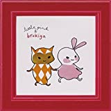 アートフレーム リトルピンク&ブロキガ ミニアート フレーム ブロキガ20/ 絵画 壁掛け のあゆわら