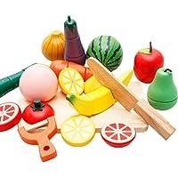 [ドリーマー] おままごと 知育玩具 木製 果物 野菜 切れる 食品 キッチンセット 筒入り マグネット おもちゃ キッズ 赤ちゃん 子供用 男の子 女の子 プレゼント 出産祝い