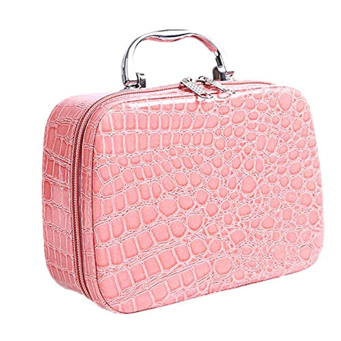 モトリー家庭教師蓋TOOGOO ファッション、女性のコスメバッグ、化粧品の袋、旅行用オーガナイザー、美容箱、薬、文具、化粧品、お祭りの贈り物、ピンク