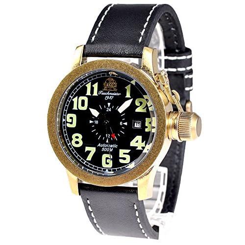 [トーチマイスター1937]Tauchmeister1937 腕時計 ドイツ製 2戦ドイツU-BOOT潜艦復刻 500M防水 自動巻 GMT T0085 (並行輸入品)