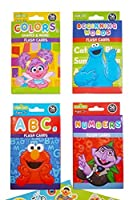 Sesame Street Educational Flash Cards for Early Learning. Set includes Colors Shapes & More ABCs Numbers and Beginning Words. Plus Free Bonus Sesame Street Stickers. 【You&Me】 [並行輸入品]