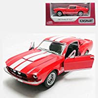 Kinsmart 1:38 Die-Cast 1967 Shelby GT500 Car Metal Red Model with Box Collection Christmas New Gift