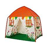 Homfu 子供用テント ハウステント キッズテント 折り畳みテント 窓付き おもちゃハウス  クリスマス お誕生日 お出産祝いプレゼント … (橙)