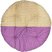 高岡 せんべい座布団 直径100cm ツートンカラー ヨツバベージュ×藤紫