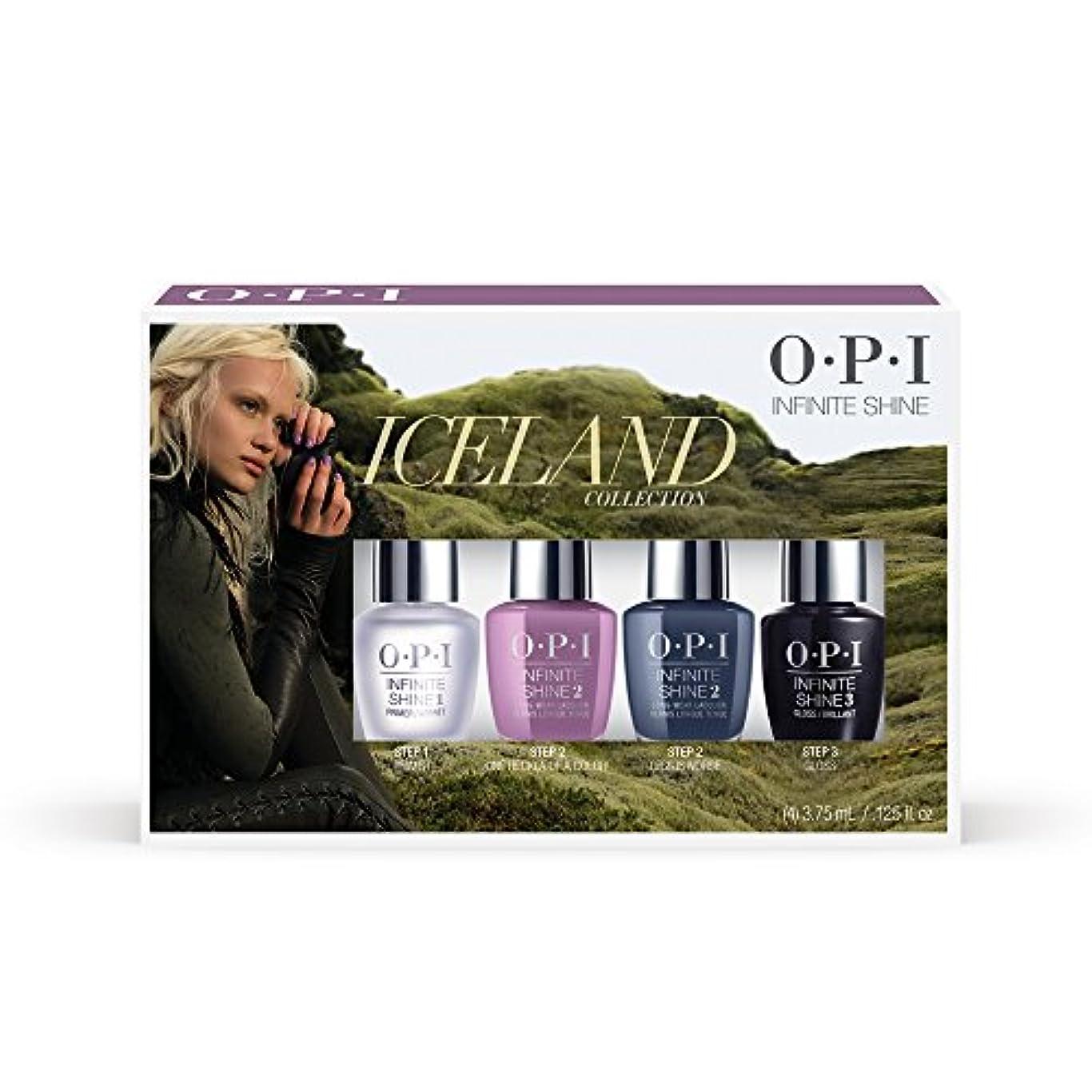 抗議作動するジェスチャーOPI(オーピーアイ) アイスランド コレクション インフィニット シャイン ミニパック