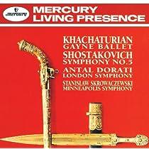 ハチャトゥリアン:ガイーヌ組曲、ショスタコーヴィチ:交響曲第5番