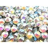 【ラインストーン77】 ガラス製ラインストーン オーロラクリスタル 各サイズ選択可能 スワロフスキー (2.2mm (SS8) 約200粒)