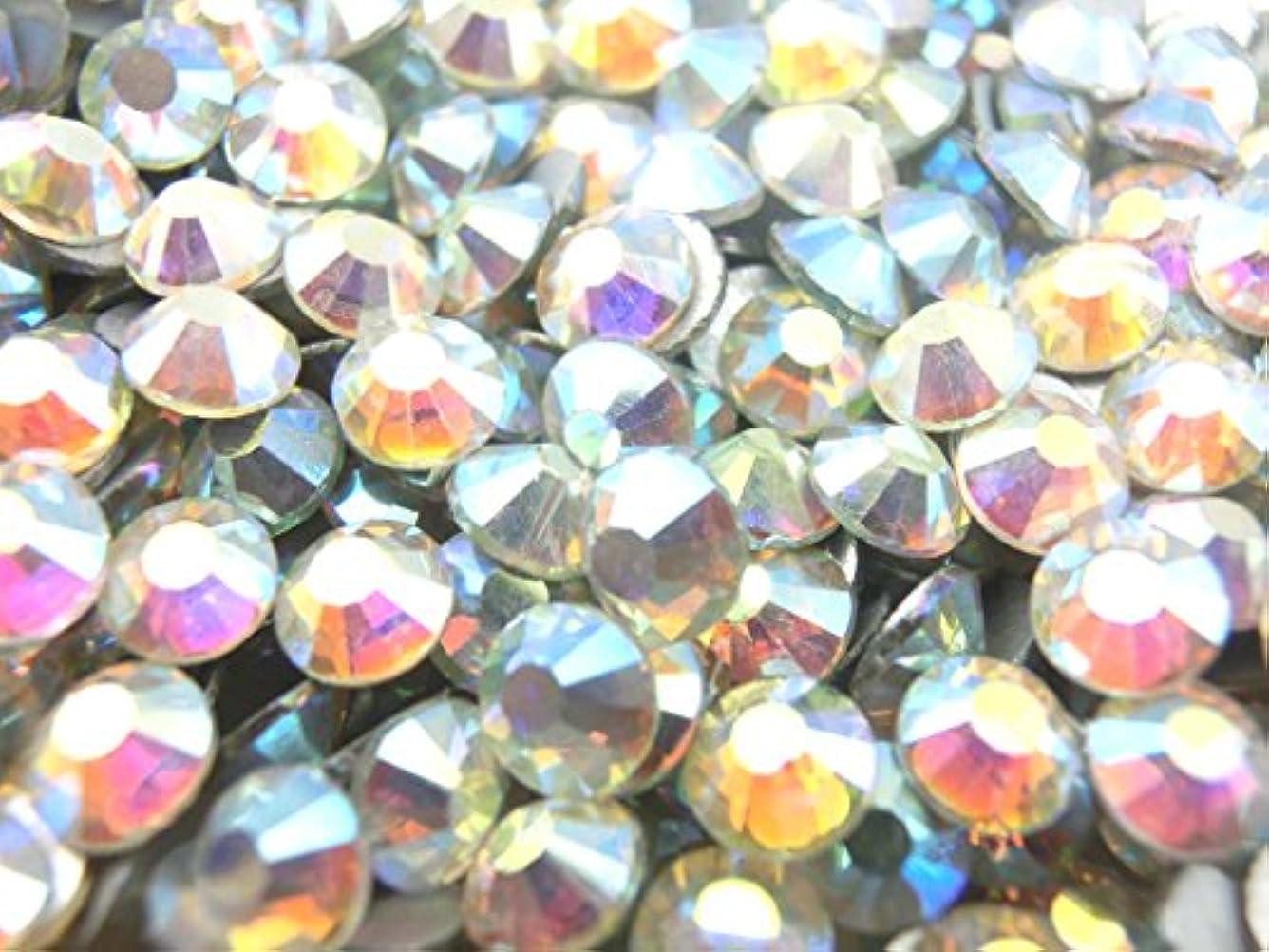 【ラインストーン77】 ガラス製ラインストーン オーロラクリスタル 各サイズ選択可能 スワロフスキー (3.0mm (SS12) 約200粒)