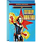 Hallmark Captain Marvel Birthday Card with Removable Bracelet (Totally Amazing)