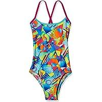 Speedo Womens Flipturn Single Crossback Swimming One Piece Swimsuit - Multi