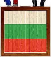 Rikki Knight Bulgaria Flag on Distressed Wood Design 5-Inch Wooden Tile Pen Holder (RK-PH8684) [並行輸入品]