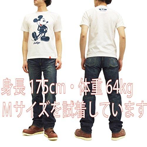 (ステュディオ・ダ・ルチザン) Tシャツ MK-001 ミッキーマウス ダルチザン コラボ メンズ 半袖tee オフ白 (L)
