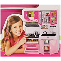 My Modern KITCHEN PLAYSET Featuring Light & Sound Refrigerator, Stove Microwave and much more.