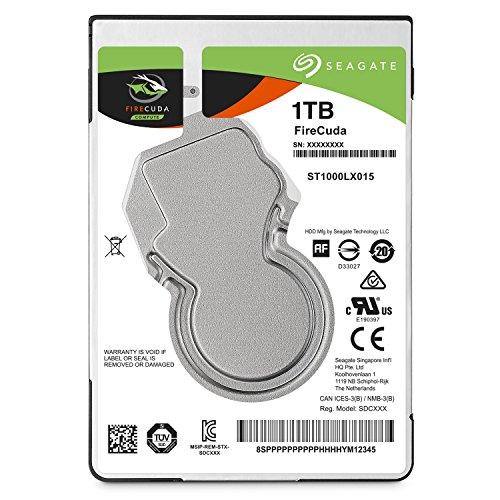Seagate 内蔵ハードディスク 2.5インチ 1TB NANDフラッシュ ゲーム向け FireCuda ( SSHD 8GB MLC /SATA /5年保証 )正規代理店品 ST1000LX015
