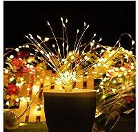 LIANGSM 装飾ライト クリスマスライト光が流れる LED イルミネーション ストリングライト/LEDストリングライト/装飾ツリーパーティーガーデンXmas/装飾ライト ウェディング/イルミネーション 飾り/クリスマスツリー装飾用/ライルミネーション LED つらら/イルミネーションライト/お庭やクリスマス飾りなど用(暖かい白)