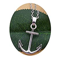 アンカーネックレス、銀のアンカーチャーム 最高の友人、花嫁介添人の贈り物 は、航海のジュエリー