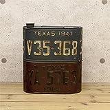 アメリカン雑貨 レトロ 収納 ナンバープレート オイル缶 ストレージボックス