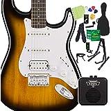 Squier by Fender Bullet Stratocaster HSS Hard Tail Brown Sunburst エレキギター 初心者14点セット ミニアンプ付 ストラト スクワイヤー/スクワイア