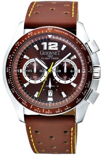 [ギオネ]GUIONNET 腕時計 フライトタイマー ブラウン BR1500BW メンズ