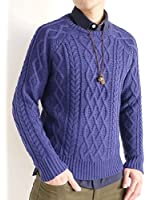 (オークランド) Oakland 厚手 フィッシャーマン ケーブル編み 3G ニット セーター 起毛 防寒 全面ケーブル編み メンズ