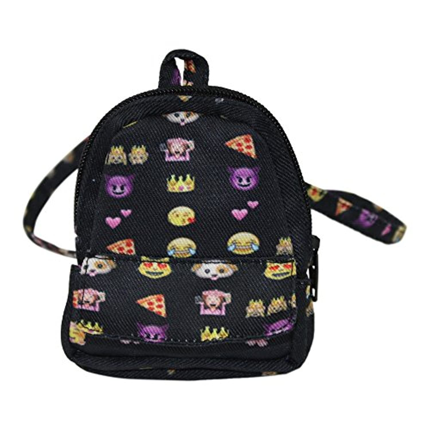 Ari and Friends Fits American Girl 46cm Dolls - Emoji Fun Zippered BACKPACK - 46cm Doll accessories - Designed In USA to Fit 46cm dolls - Great for your 46cm doll on the go