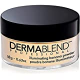 Dermablend Professional Illuminating Banana Loose Setting Powder - Sets Face & Body Makeup for Up to 16 Hours - Instantly Bri