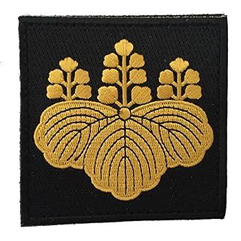 [ ワッペン屋Dongri ] 全面刺繍 ベルクロワッペン 豊臣秀吉 家紋 五七桐 A0012