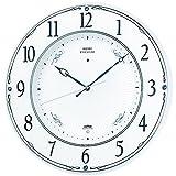 セイコー クロック 掛け時計 電波 アナログ 木枠 白 パール LS230W SEIKO