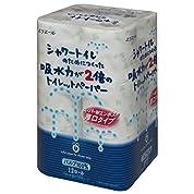 シャワートイレのためにつくった吸水力が2倍のトイレットペーパー ダブル 100シート(23m) 12ロール パルプ100%