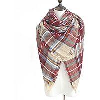 Afibi Soft Warm Tartan Plaid Scarf Shawl Cape Blanket Scarves