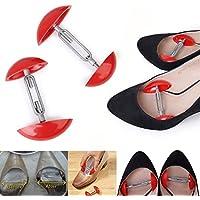 Kicode 1組のミニ調節可能な靴ひげショルダーシェイパー幅エクステンダー赤