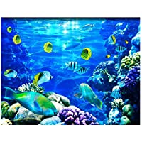 山笑の美 壁紙大3Dステレオ壁紙ロマンチックなビーチ床壁画3D床壁紙-120X100CM