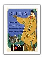 ベルリン、ドイツ - 国際映画祭 - ドイツ産業展 - ビンテージな世界旅行のポスター によって作成された ヴェルナー・ヴィルヘルム・ビュルガー c.1950s - プレミアム290gsmジークレーアートプリント- 30.5cm x 41cm