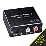 BLUPOW DAC 同軸・光デジタル アナログ 変換器 RCA・3.5mmミニジャック出力 オーディオ変換器 Digital to Analog 192Khz/24bitハイレゾ対応 daコンバーター