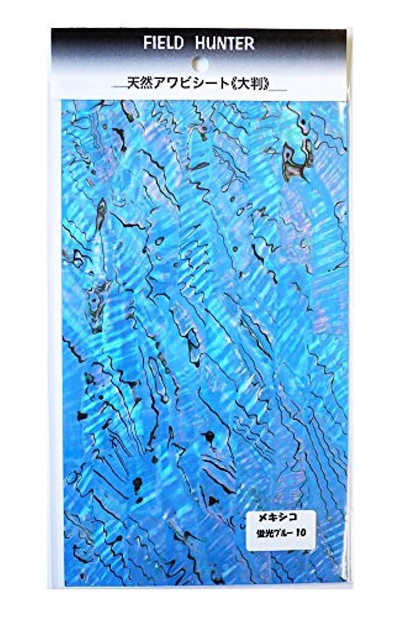 知っているに立ち寄る秘密の値下げフィールドハンター アワビシート大判 メキシコ 蛍光ブルー.