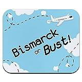 ビスマルクまたはバスト - フライング飛行機マウスパッド
