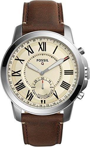 スマートウォッチ FOSSILQ Q GRANT ホワイト/ブラウン レザー/SS フォッシル 腕時計 時計 メンズ