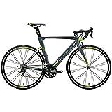 メリダ(MERIDA) ロードバイク REACTO 400 マットグレー/シルバー/グリーン(ES40) AMA04548 54cm