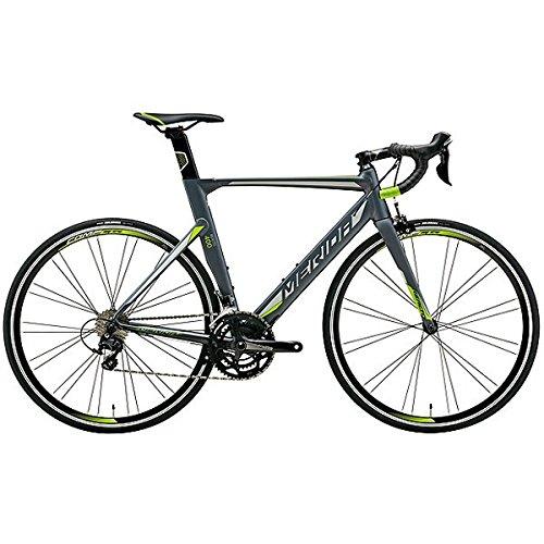 メリダ(MERIDA) ロードバイク REACTO 400 マットグレー/シルバー/グリーン(ES40) AMA04478 47cm
