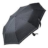 FREETOO 自動開閉折り畳み傘 軽量 携帯用 8本骨 耐風 撥水 直径100cm ブラック