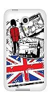 softbank ディグノF 504KC TPU ソフトケース 574 LONDON 素材ホワイト【ノーブランド品】