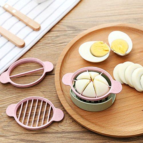 ゆで卵 カッター 卵切り機 セット 使いやすい ハンドル付き 安全 プラスチ...