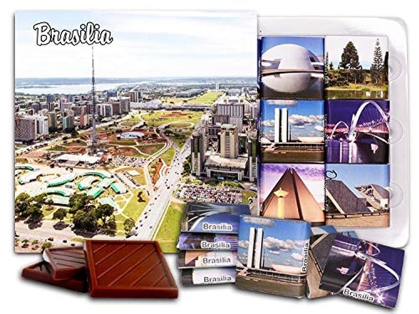 代替征服ショートカットDA CHOCOLATE キャンディ スーベニア  ブラジリア  BRASILIA チョコレートセット 5×5一箱 (Park)