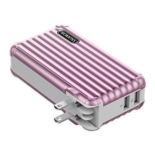 ROMOSS モバイルバッテリー 10000mAh ACプラグ...