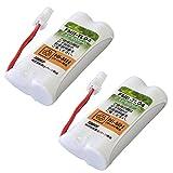 シャープ (Sharp) コードレスホン 子機用 充電池【M-003 同等品】 2個セット