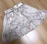 WILLSELECTION ウィルセレクション ディズニー 白雪姫 コラボ サテン リボン 付 シフォン スカート