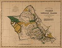 Molokai、ハワイパノラママップ–1897 24 x 36 Giclee Print LANT-4405-24x36