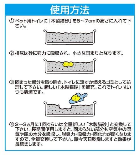 『トイレに流せる木製猫砂 7L』の5枚目の画像
