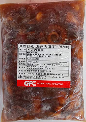 国産 ( 瀬戸内海産 ) 真蛸旨煮 1.2kg ( 50本 ) たこの煮物 業務用 冷凍